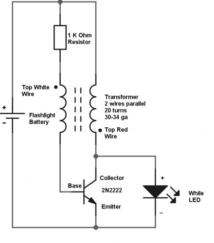 how to make a joule thief and use dead flashlight