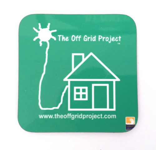 The Off Grid Project Coffee Coaster Green