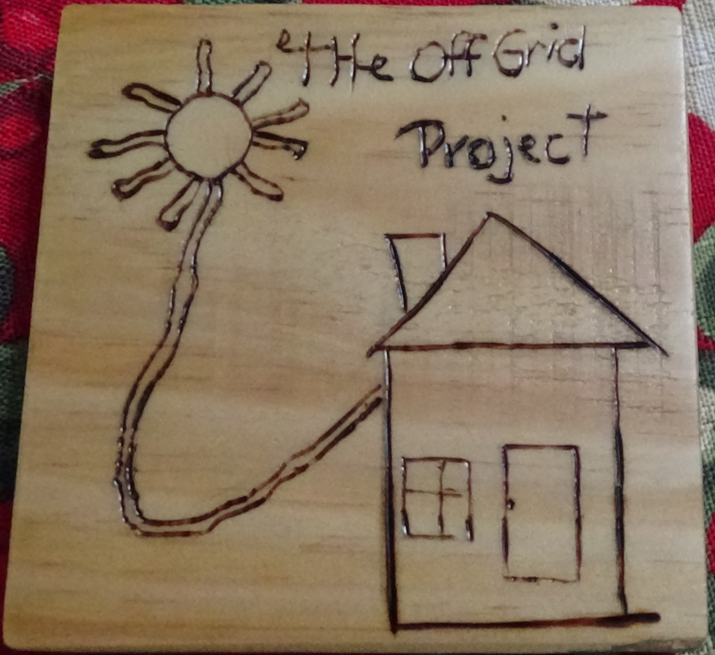 The Off Grid Project Wood Burnt Coffee Coaster