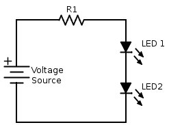 Multiple LEDs with limiting Resistor
