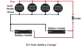 Homemade solar battery charger schematic diagram