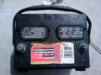 Ten year old car battery to be restored